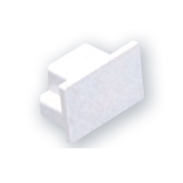 MINI TRUNKING MT1 END CAP - WHITE