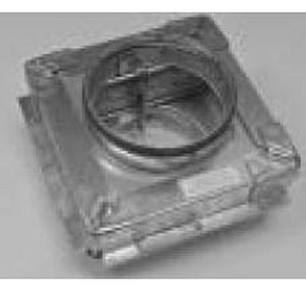 CIRCULAR FIRE DAMPER - WITH FRAME - SPIGOT FIT - 280MM