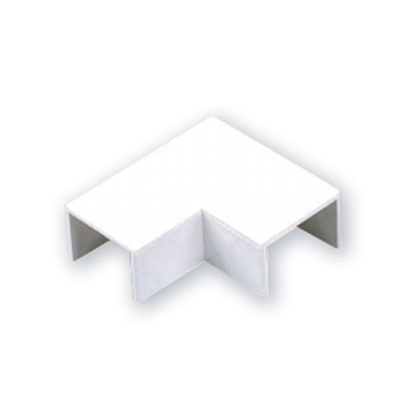 MINI TRUNKING MT2 90° FLAT ANGLE - WHITE
