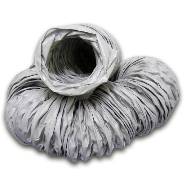 UNINSULATED VINYL FLEXIBLE DUCTING - 6M - 600MM