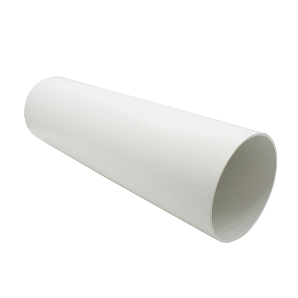 Kair 100mm Diameter Round Pipe 350mm Long White Plastic