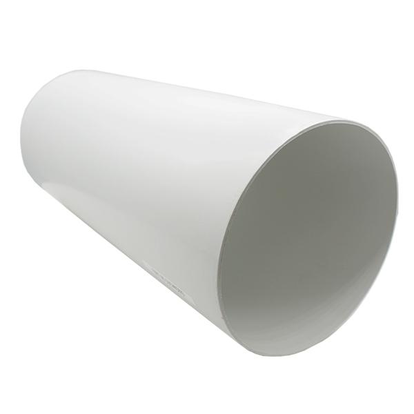 Kair Plastic Ducting Pipe 150mm - 6 inch / 350mm Short Length Rigid Straight Duc...