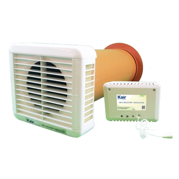 KAIR HEAT RECOVERY EXTRACTOR FAN - 12VAC SELV - HUMIDISTAT