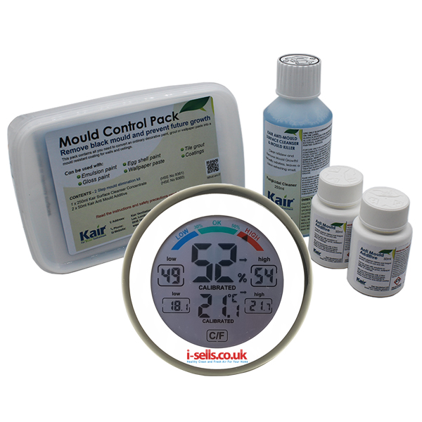 Kair Mould Control Pack and Healthy Living Hygrometer