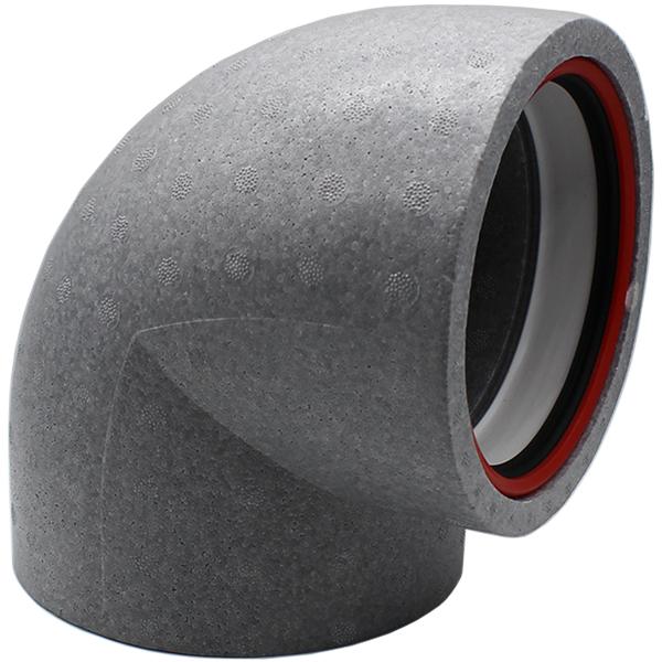 Kair Self-Seal Thermal Ducting - 160mm - 90 Degree Bends - Box of 6