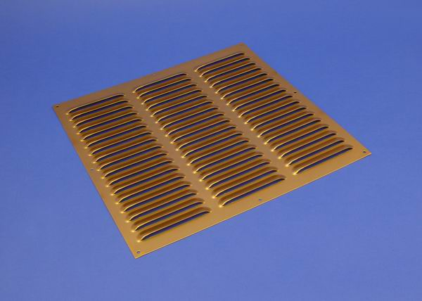 Rytons 9X3 Brass Anodised Aluminium Louvre Vent Grille