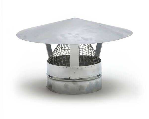 Metal Ducting Ventilation Hood with Mesh - 150mm...