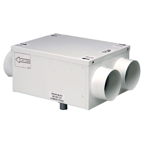 Windsor HR100RS - 100mm Inline Heat Recovery - Bottom Access (Made To Order - 2-...