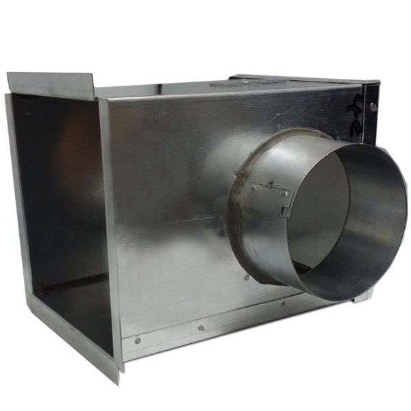 350 X 350 Galv Plenum Box Side Entry