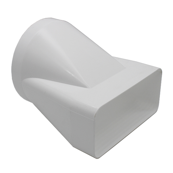 Kair Offset Ducting Adaptor 150mm x 70mm to 125mm - 5 inch Rectangular to Round