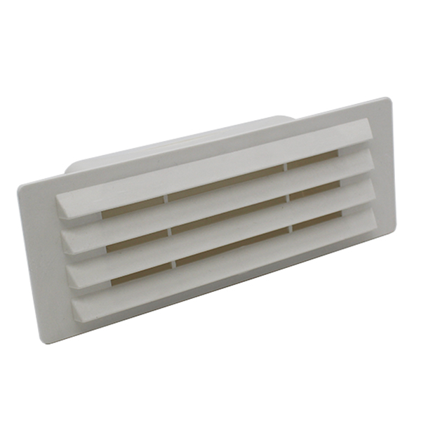 Rectangular Ducting 150mm X 70mm - Airbrick With Damper Flap - White