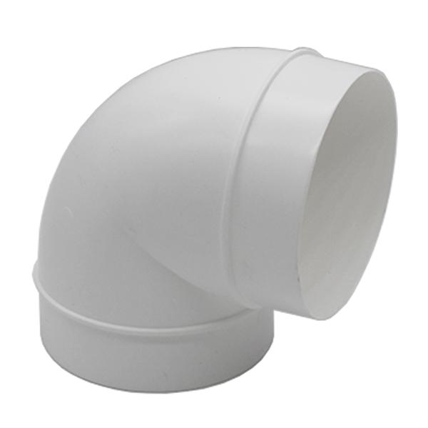 Kair 90 Degree Elbow Bend 100mm - 4 inch Round