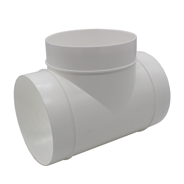 Kair Round Equal T-Piece 125mm 5 inch Plastic Ducting Tee Junction Connector