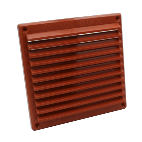 Rytons 6X6 Louvre Vent Grille With Flyscreen - Terracotta