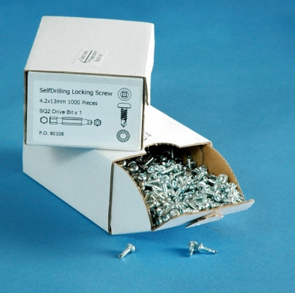 19x4.2mm Self Tapping TecScrews (Box of 1000) including one SQ2 D...