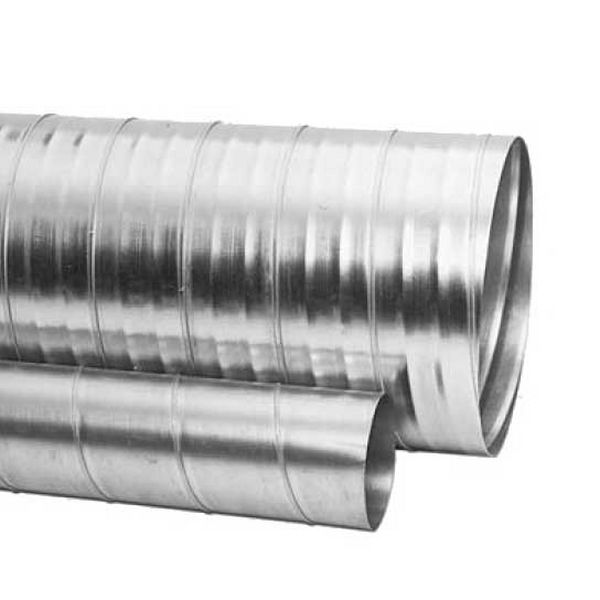 Galvanised spiral duct m mm straight