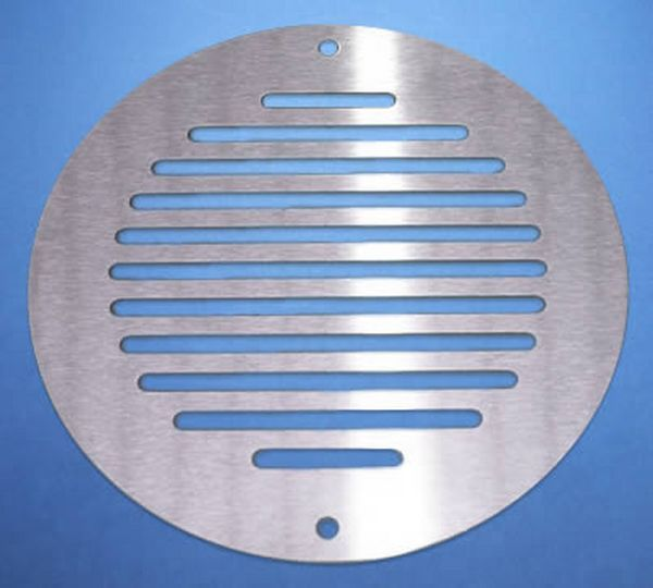 Ø150MM ROUND VENTILATION GRILLE STAINLESS STEEL