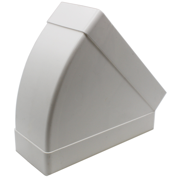 Kair 45 Degree Horizontal Elbow Bend 220mm x 90mm - 9 x 4 inch Rectangular Plast...
