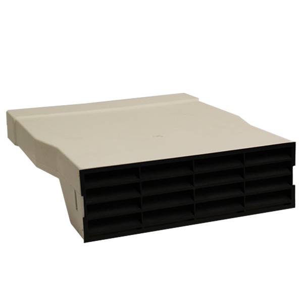 Air brick Adapter With Black Air brick Grille - System 225