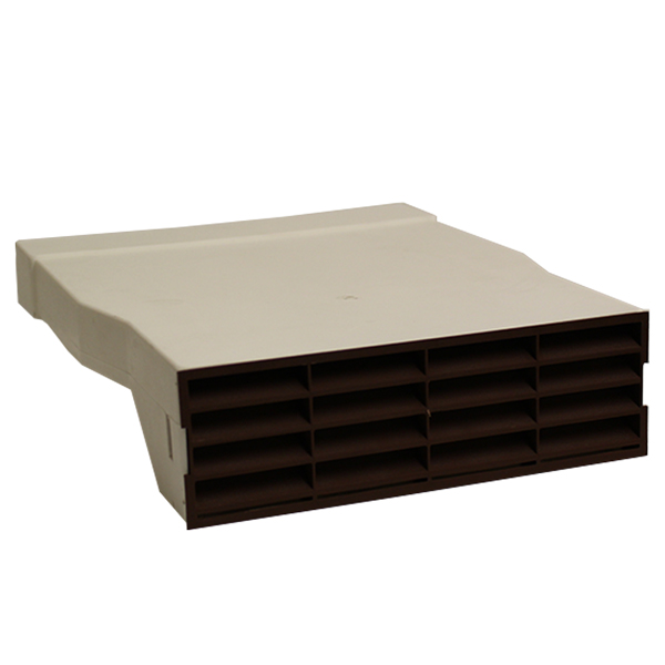 Air brick Adapter With Brown Air brick Grille - System 225