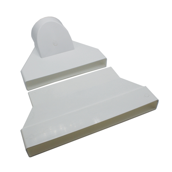 System 300 Offset Straight Rectangular to Round 100mm Adapter (2 Components)