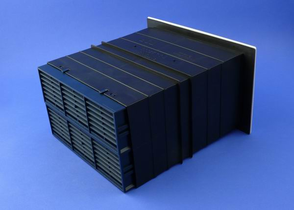 9X6 VENTILATION SET WITH FLUSH LOUVRE VENTILATOR-BLUE-BLACK