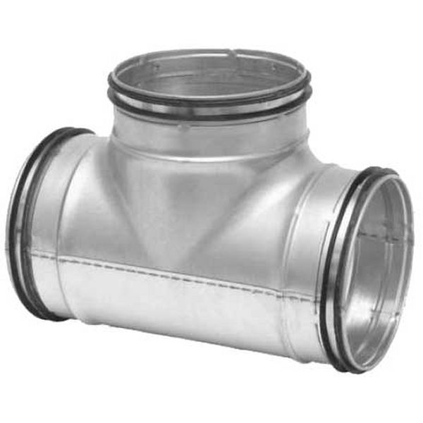 Galvanised Ducting Safe - T-Piece - 80-80mm