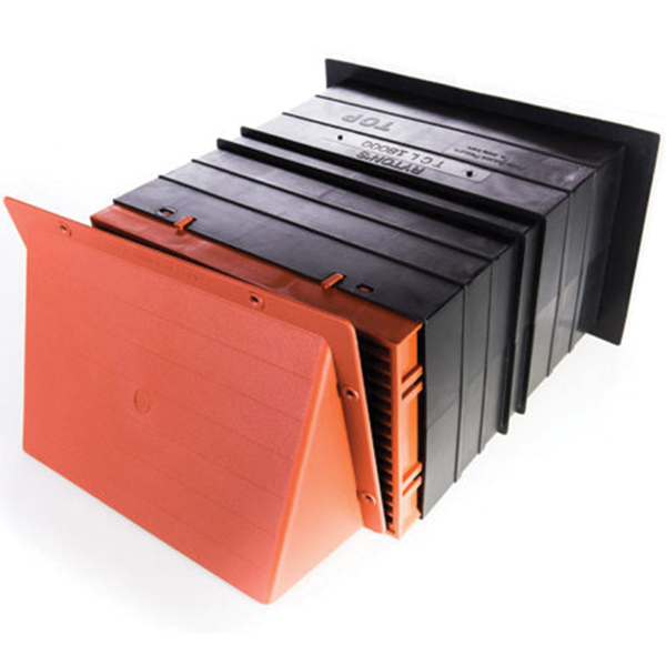 9X6 Cowled Terracotta Light Draft Airliner Passive Vent Set With White Flush Lou...