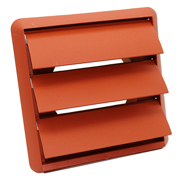 Kair Gravity Grille 125mm - 5 inch Terracotta External Ducting Air Vent with Rou...