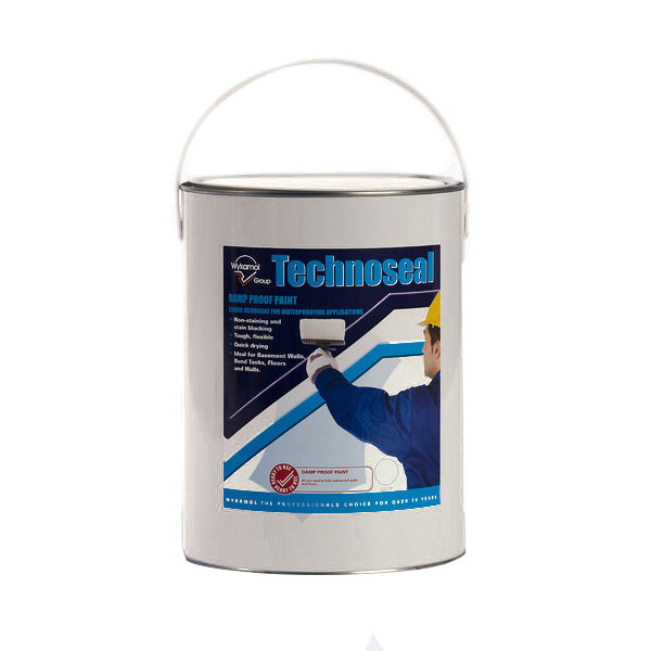 Aquatex Damp Proofing Systems Waterproof Wall Paints: Technoseal Damp Proof Paint White 5L