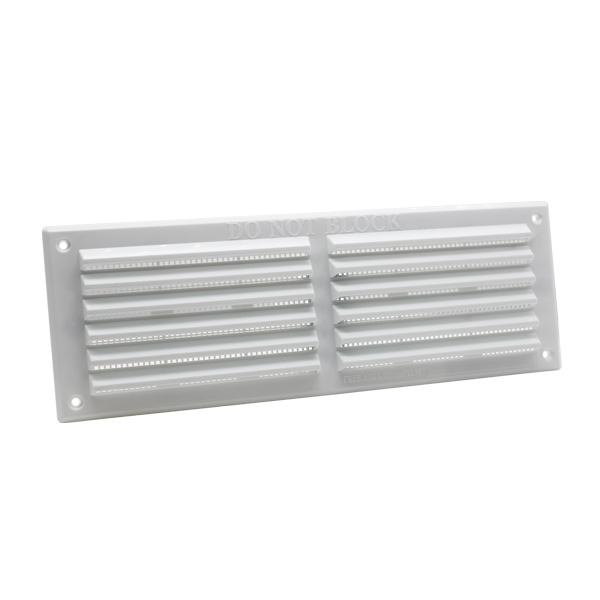 Rytons 9X3 Louvre Ventilation Grille With Flyscreen - White