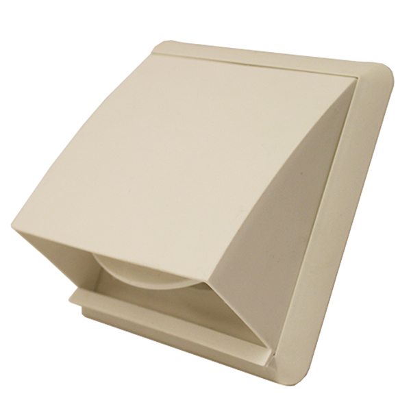 Kair Cowl Vent 110mm x 54mm White External Wall Vent With Rectangular Spigot and...
