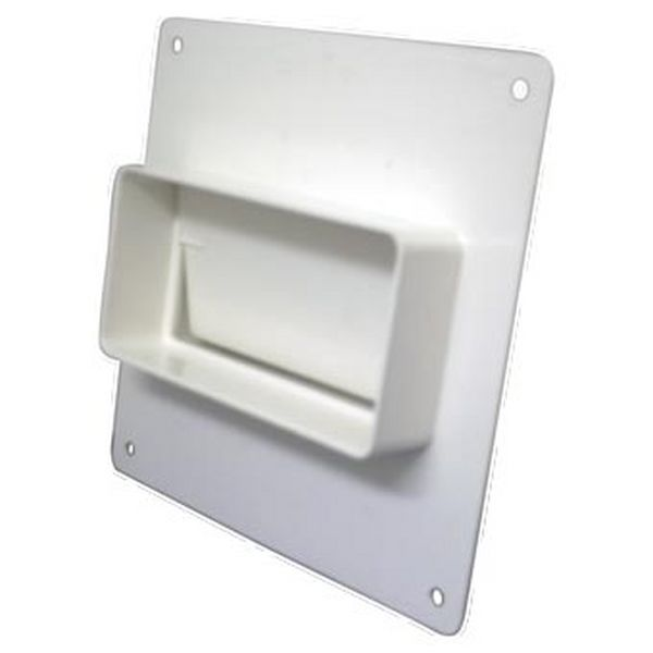SYSTEM 100 RECTANGULAR TO RECTANGULAR WALL PLATE W/DAMPER