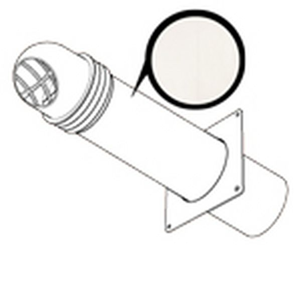 HIGH RISE ROUND COWLED KIT 150MM - WHITE (CUT OUT SIZE 167MM)