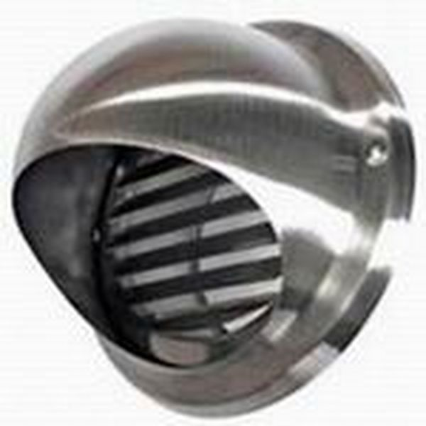 Mm bull nose vent with louvres stainless steel ducting