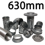 Metal Ducting - 630mm Round System