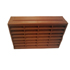 DOUBLE AIR BRICK - LOUVRED - TEXTURED FINISH - TERRACOTTA