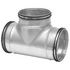 Galvanised Ducting Safe - T-Piece - 100-63mm