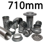 Metal Ducting - 710mm Round System