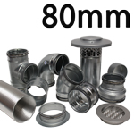 Metal Ducting - 80mm Round System