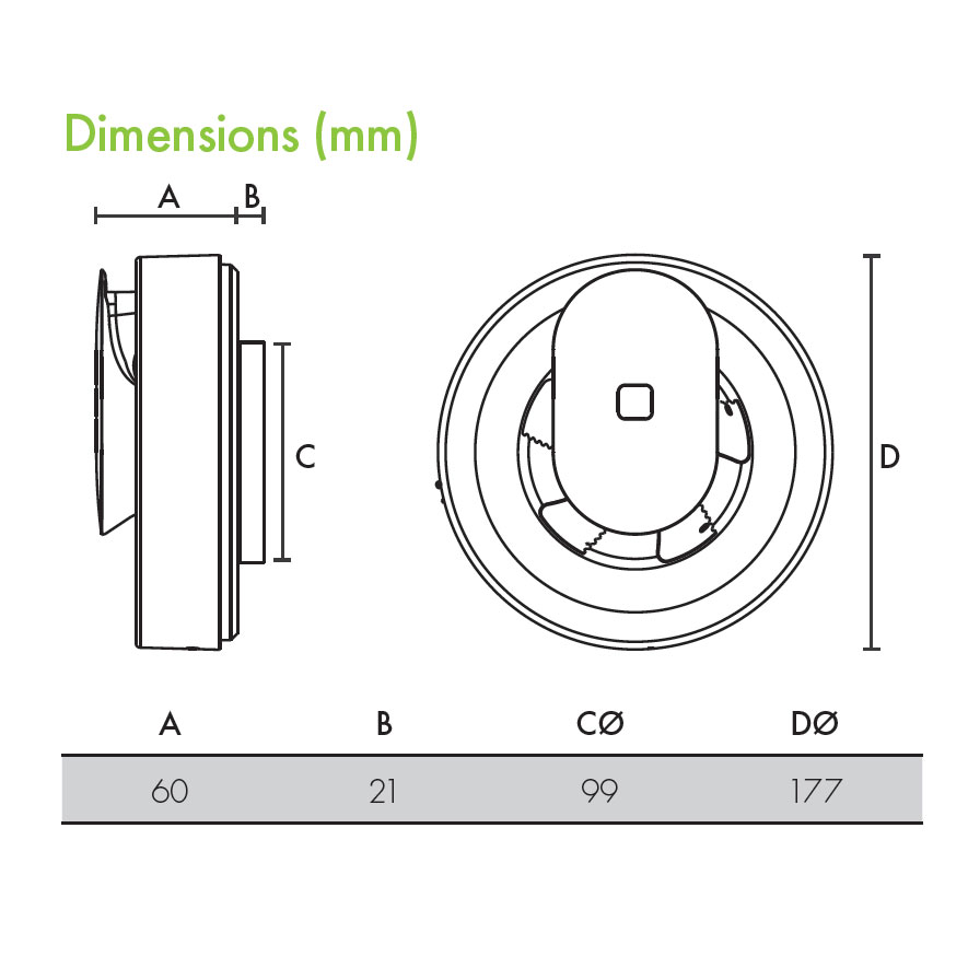 Lo Carbon Svara Axial Kitchen Amp Bathroom Fan Timer