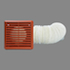 FLEXIBLE DUCT KIT 100MM 3M DUCT, GRILLE - TERRACOTTA