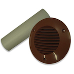 CAVITY WALL KIT 100MM INCLUDES DUCT AND GRILLE - TERRACOTTA