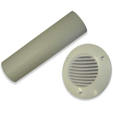 Cavity Wall Kit 100mm Duct, Grille - White