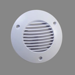 Icon External Grille 150mm Dia - White (72593102)