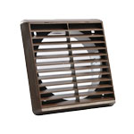 Square Grille 140 X 140 With Spigot - Brown (52641104)