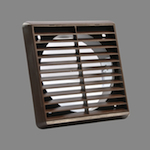 Square Grille 180 X 180 With Spigot - Brown (52641109)