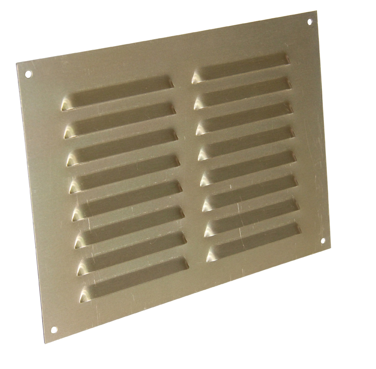 9 X 6 ANODISED LOUVRE VENT - GOLD