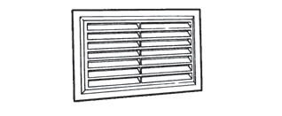 FACE FITTING FIXED LOUVRED GRILLE WITH LARGE FLANGE - STAMPE