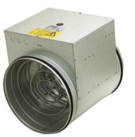400mm Inline Duct Heater 9000 Watt 400V 3 Phase